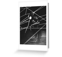 The Amazing Black Suit Spider-Man Greeting Card