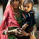 Bishnoi mother and son by Anthony Begovic