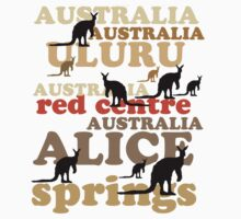 Aussie t-shirt design featuring roos and lettering by MrCreator