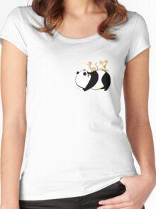 A Panda, a Cat and a little girl Robot Women's Fitted Scoop T-Shirt