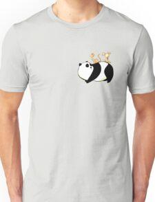 A Panda, a Cat and a little girl Robot T-Shirt