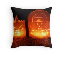 Candle Lamps Throw Pillow