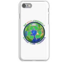 BE ECO-FRIENDLY: Recycle - Reuse - Rejuvenate (light) iPhone Case/Skin