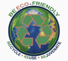 BE ECO-FRIENDLY: Recycle - Reuse - Rejuvenate (light) Kids Clothes