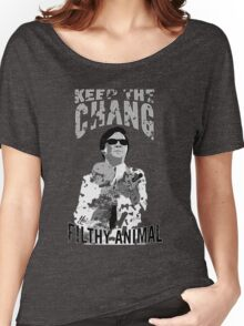 Keep The Chang You Filthy Animal (Black & White) Women's Relaxed Fit T-Shirt