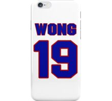 National Hockey player Mike Wong jersey 19 iPhone Case/Skin