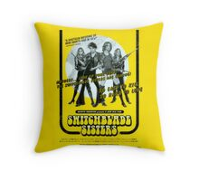 Switchblade Sisters Throw Pillow