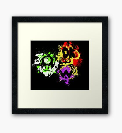Smash Bros. The Mario Gang Framed Print