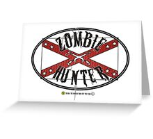 Zombie Hunter flag Greeting Card
