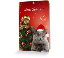 Merry Christmas Meow! Greeting Card