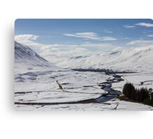 Scottish Highlands in Winter Canvas Print