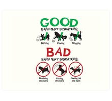 Good and Bad Barn Hunt Indicators Art Print