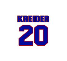 National Hockey player Chris Kreider jersey 20 Photographic Print