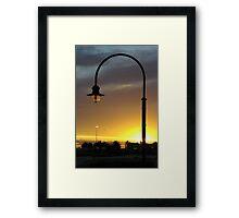 Last of the natural light Framed Print