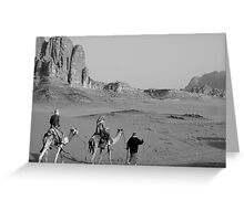 Camel trekking Greeting Card
