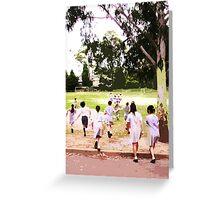 oval run - 6x4 Greeting Card