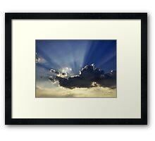 "A shot for Axel ""Lighting Up A Sky"" Framed Print"