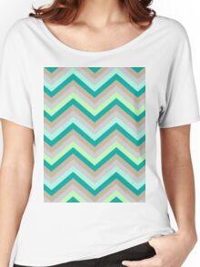 Retro Zig Zag Chevron Pattern Women's Relaxed Fit T-Shirt