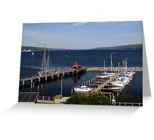 Seneca Lake Harbor Greeting Card