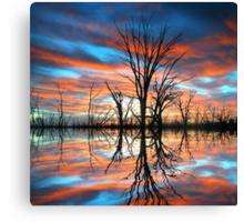 Tree Lake Sunset Canvas Print