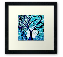 The Silver Moon Tree Framed Print