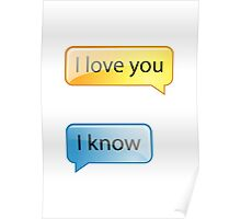 i love you text Poster