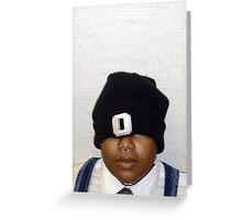 O hat Greeting Card