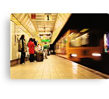 The Metro Now Arriving..... Canvas Print