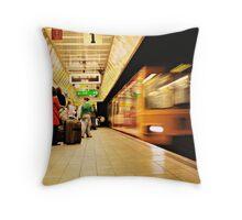 The Metro Now Arriving..... Throw Pillow