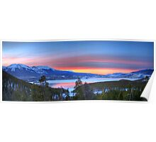 Lake Dillon East Sunset Panorama Poster