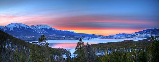Lake Dillon East Sunset Panorama by Scott Ingram