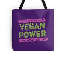 Vegan Power   Pink & Green Tote Bag