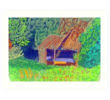 delapidated barn Art Print