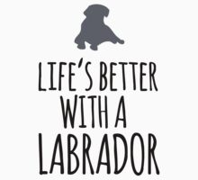 Funny 'Life's Better With a Labrador' T-Shirt, Hoodies and Gifts by Albany Retro