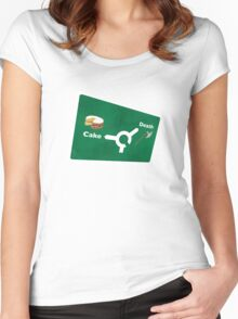 Cake or death Women's Fitted Scoop T-Shirt