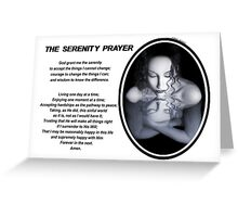 The Serenity Prayer 1 (for light colors) Greeting Card