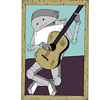 Robot Art after Picasso's Old Man with Guitar Photographic Print
