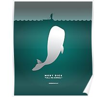 Literary Classics Illustration Series: Moby Dick Poster