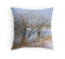 Crow Caw Throw Pillow