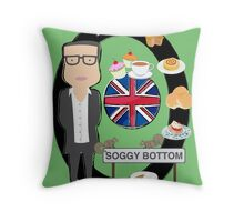 Soggy bottom Throw Pillow