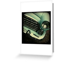 OLD CAR FRONT Greeting Card