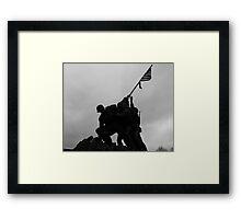 Iwo Jima in the shadows Framed Print