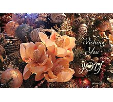 Elegant Decorations for Christmas Photographic Print