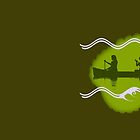 Green River Canoes Logo in Brown by Steven House