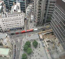 london from above by Janis Read-Walters