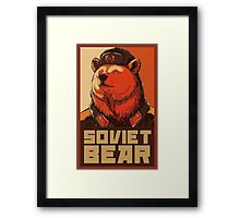 Soviet Bear Framed Print