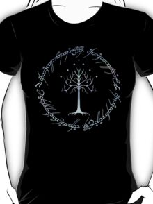 Tree of Gondor and One Ring Inscription, LOTR, Tolkien T-Shirt