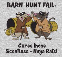 Curse you, scentless Ninja rats! by littleredrosie