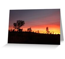 Another Day Dawns. Uluru (Ayers Rock) Northern Territory Greeting Card