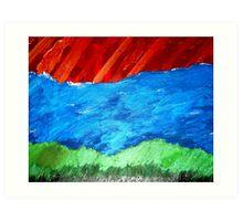 Sky Water Land Art Print